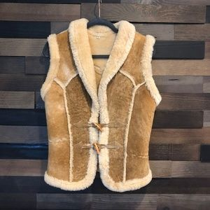 Brown Fur Vest Size S